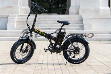 wave fat bike elettrica nero